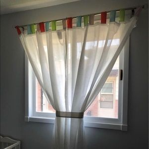 IKEA Nursery Sheer Curtains EUC